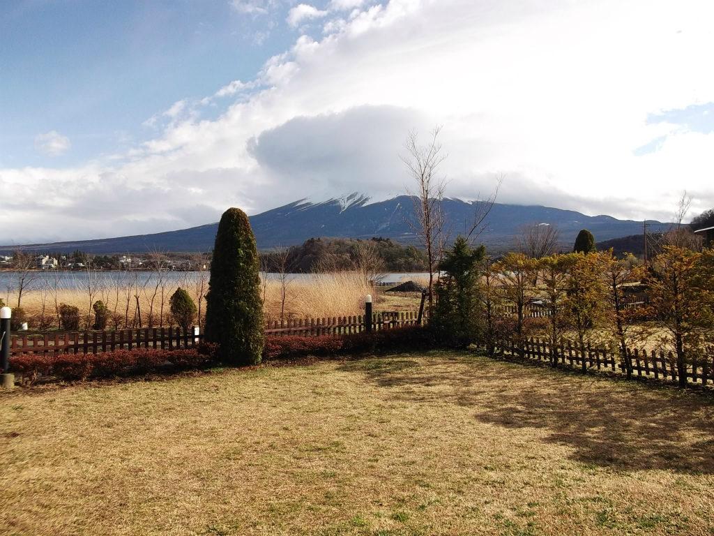 河口湖の富士