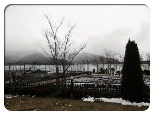 河口湖の眺め