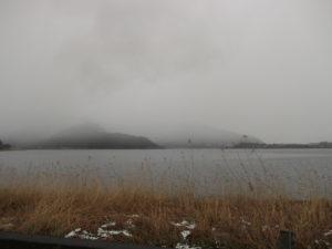 曇りの河口湖