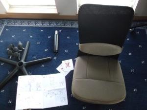 椅子 背もたれ取り付け