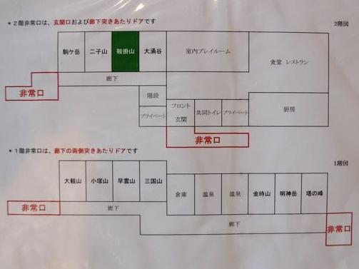 ドッグパレス箱根館内案内図
